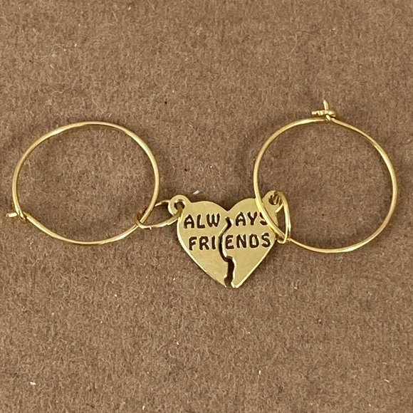 Eye 4 Jewelry Other - 14K  Always Friends to share with Hoop Earrings